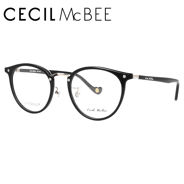 セシルマクビー メガネフレーム CECIL McBEE CMF 7036-1 49サイズ ボストン レディース