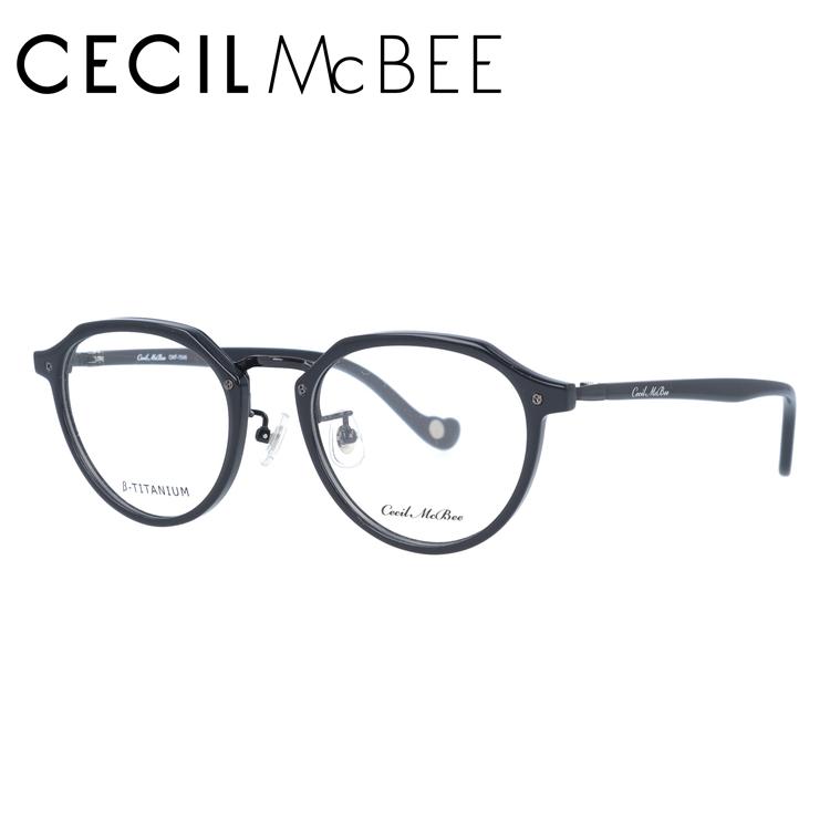 セシルマクビー メガネフレーム CECIL McBEE CMF 7046-1 49サイズ ボストン レディース