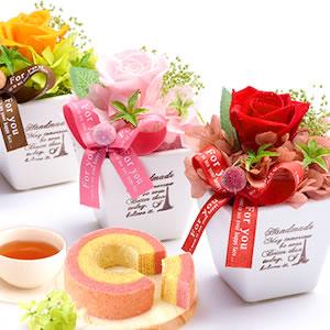 母の日 2021 薔薇プリザエッフェル+カップケーキまとめ