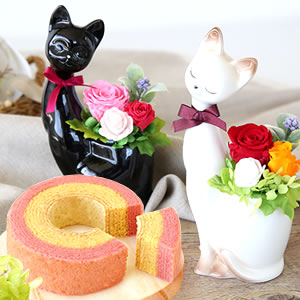 母の日 人気 【猫】プリザーブドフラワー まとめ