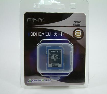 大容量SDHCメモリーカード 8GB