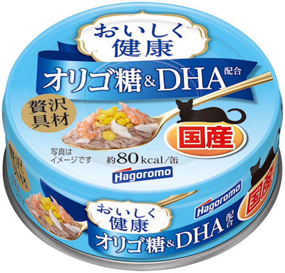 (まとめ買い)はごろもフーズ おいしく健康 オリゴ糖&DHA配合 70g 猫用フード 〔×24〕