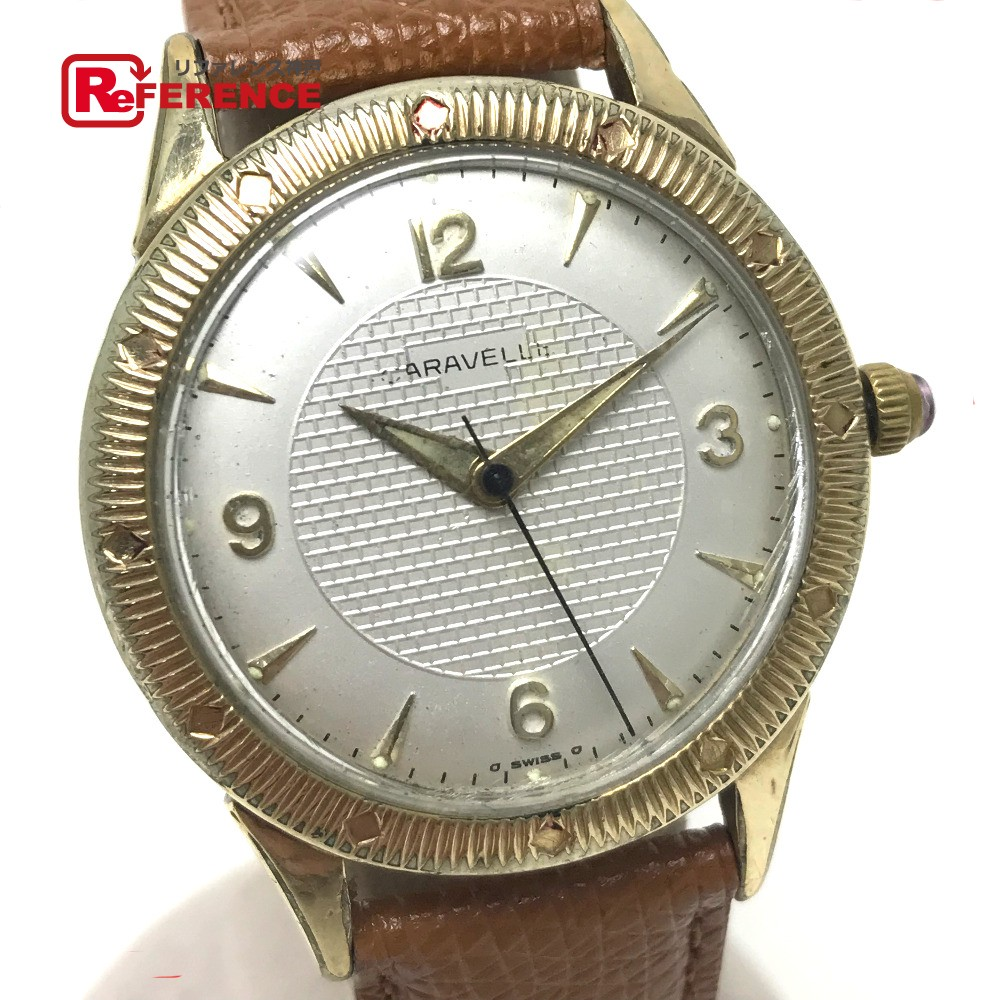 あす着 CARAVELLE キャラベル 自動巻き アンティーク メンズ腕時計 腕時計 メンズ