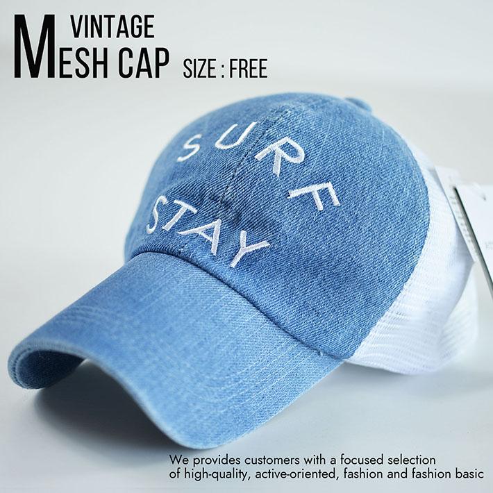 メッシュキャップ キャップ メンズ レディース 帽子 ビンテージ Vintage 刺繍 大きいサイズ対応 820-44 8-3 ブリーチ