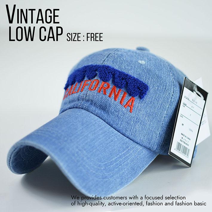 ローキャップ メンズ レディース 帽子 ビンテージ Vintage ミリタリー シンプル こなれ感 820-46 8-7 ブリーチ