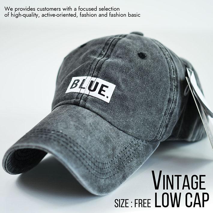 ローキャップ メンズ キャップ レディース 帽子 ビンテージ Vintage 大きいサイズ対応 820-47 8-4 ブラック