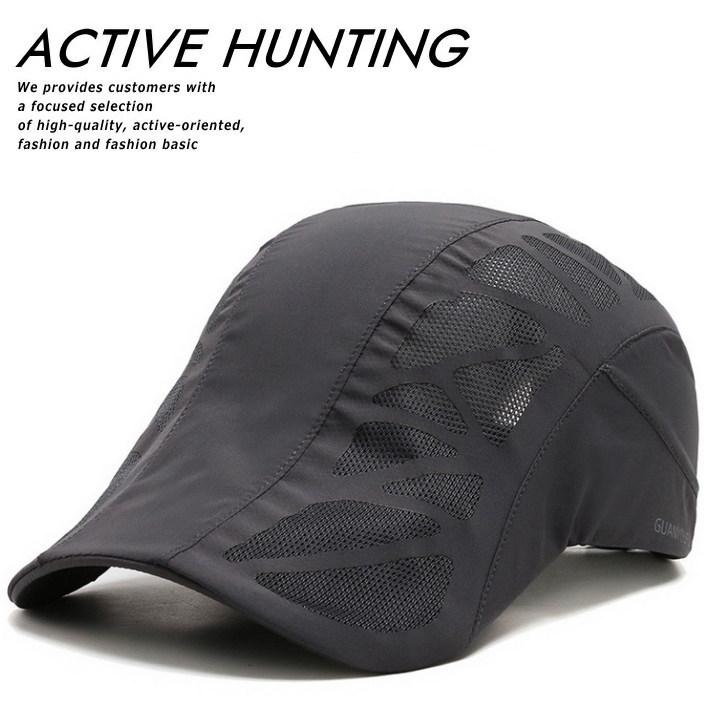 ハンチング キャップ 帽子 ゴルフ スポーツ アウトドア メッシュキャップ メンズ 送料無料 通気性 速乾性 軽量 ゴルフ 7988461