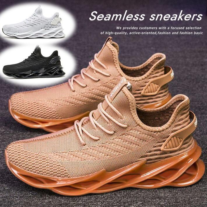 スニーカー スリッポン シューズ メンズ 靴 メンズ ちょい厚底 ストレッチ素材 防滑 軽量 送料無料 7988328