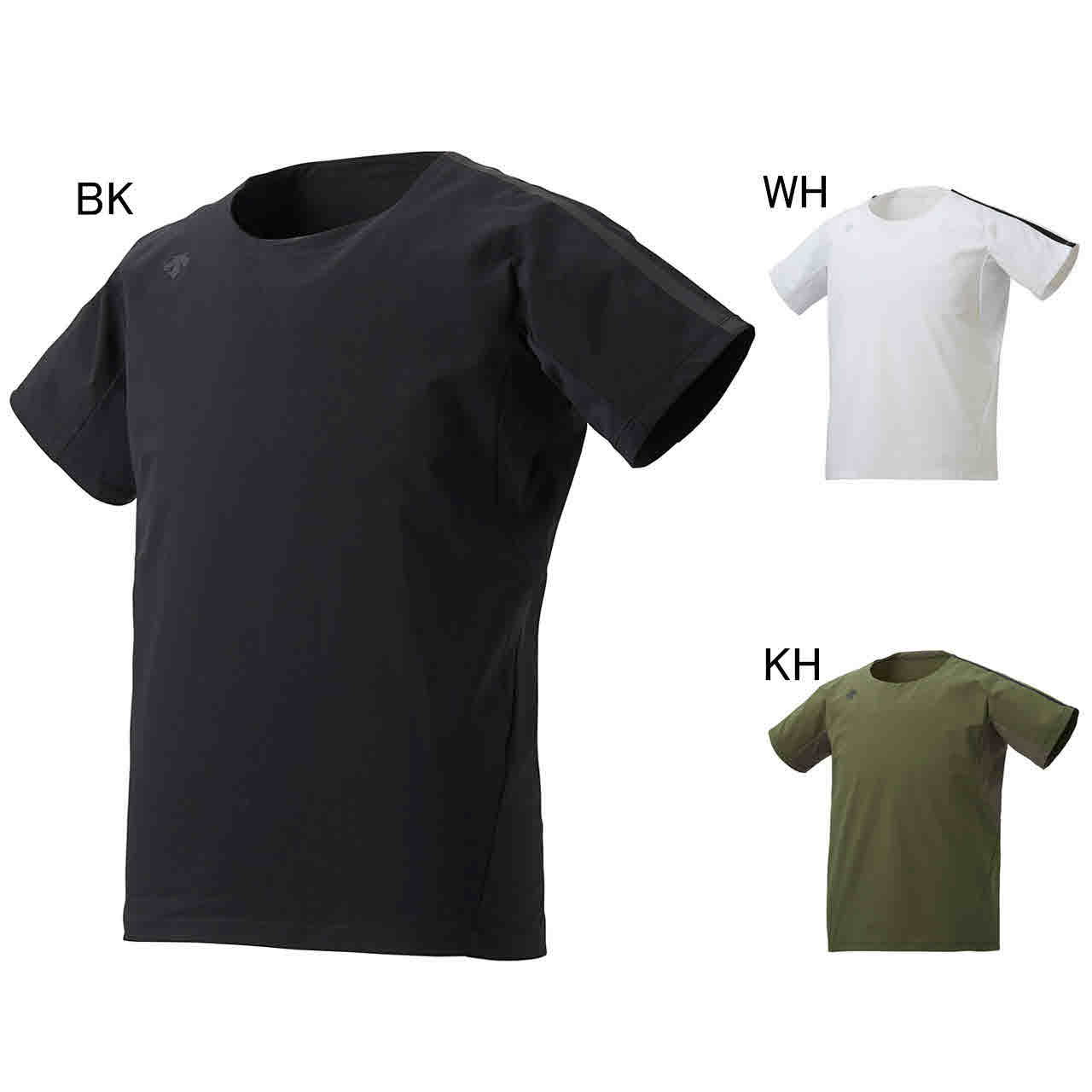 デサント エクササイズ フィットネス シャツ トップス メンズ ユニセックス ハイブリッドシャツ DESCENTE DMMNJA65Z