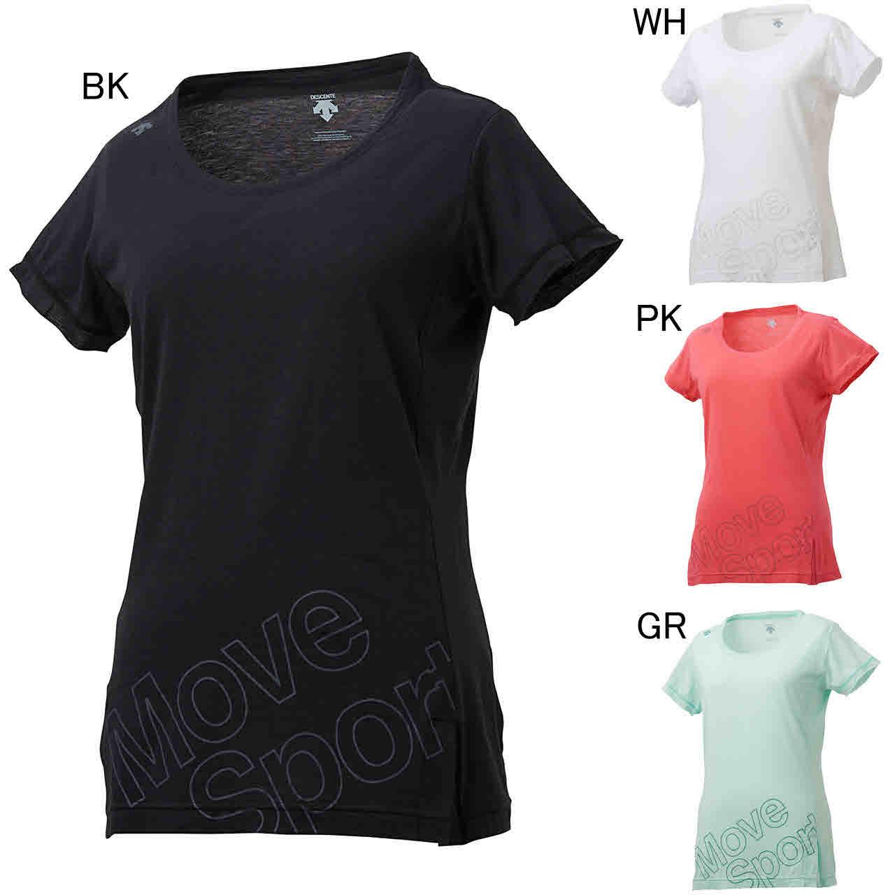 デサント エクササイズ フィットネス シャツ トップス レディース レディース モイスチャーニット Tシャツ DMWNJA53