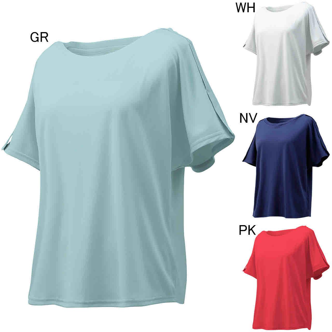 デサント エクササイズ フィットネス シャツ トップス レディース レディース ウォーターブロック Tシャツ DMWNJA54