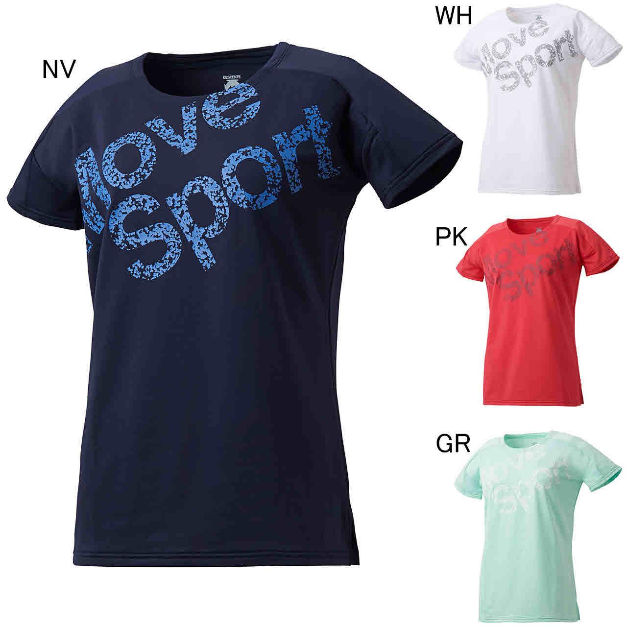 デサント エクササイズ フィットネス シャツ トップス レディース レディース Tシャツ DESCENTE DMWNJA57