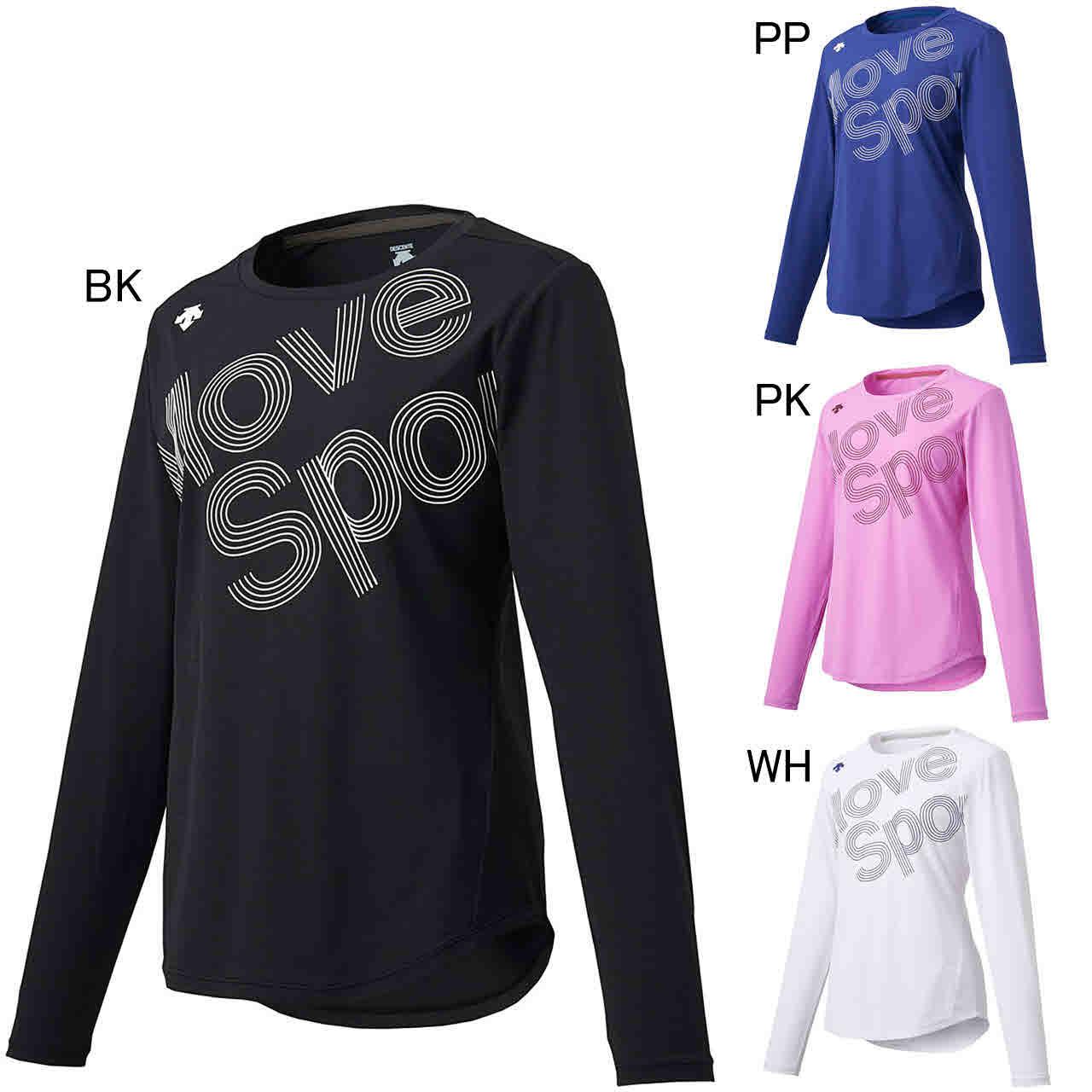 デサント エクササイズ フィットネス シャツ トップス レディース レディース サンスクリーン 長袖Tシャツ DMWOJB50