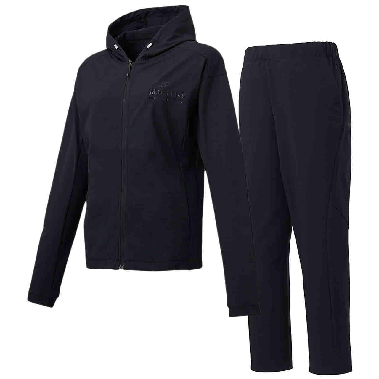 デサント DESCENTE レディース サンスクリーン フルジップシャツパーカー&ロングパンツ上下セット ブラック
