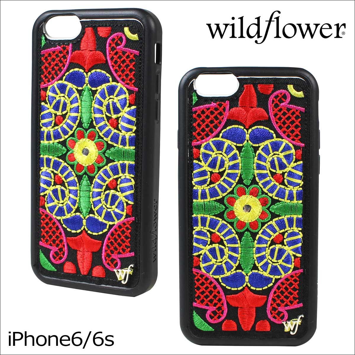 wildflower ワイルドフラワー iPhone8 SE 7 6 6s ケース スマホ 携帯 アイフォン レディース マルチカラー GEOT ネコポス可