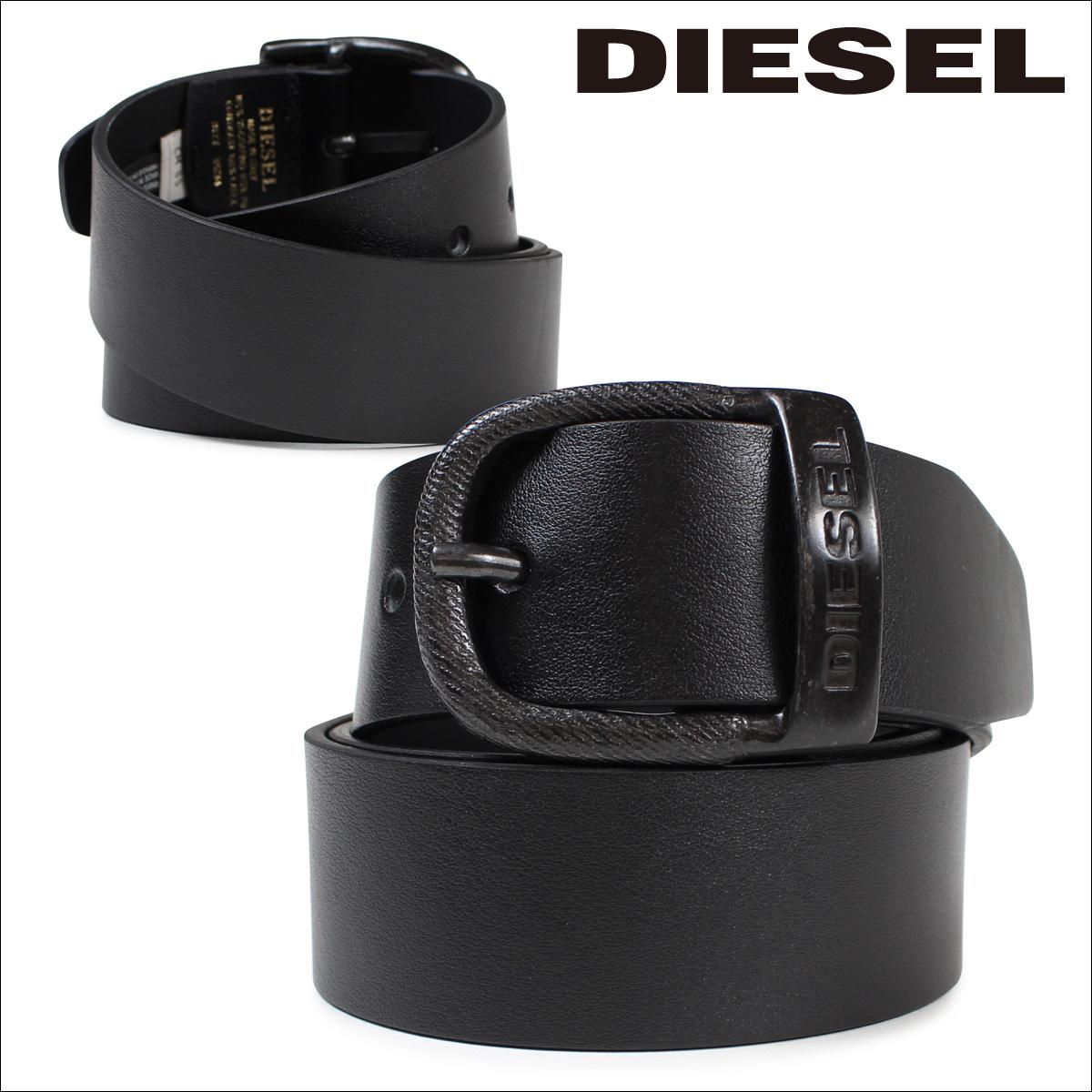 ディーゼル DIESEL ベルト バックル ロゴ入り カジュアル ヴィンテージ BAWRE X03717 PR250 ブラック メンズ