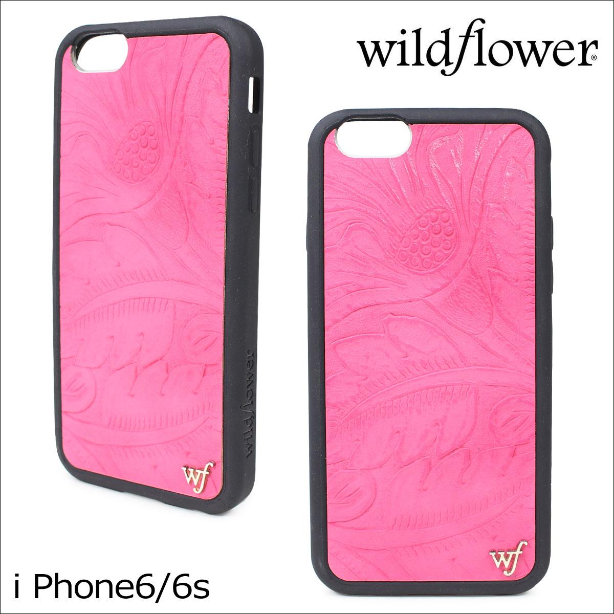 wildflower ワイルドフラワー iPhone8 SE 7 6 6s ケース スマホ 携帯 アイフォン レディース ピンク PLEA ネコポス可