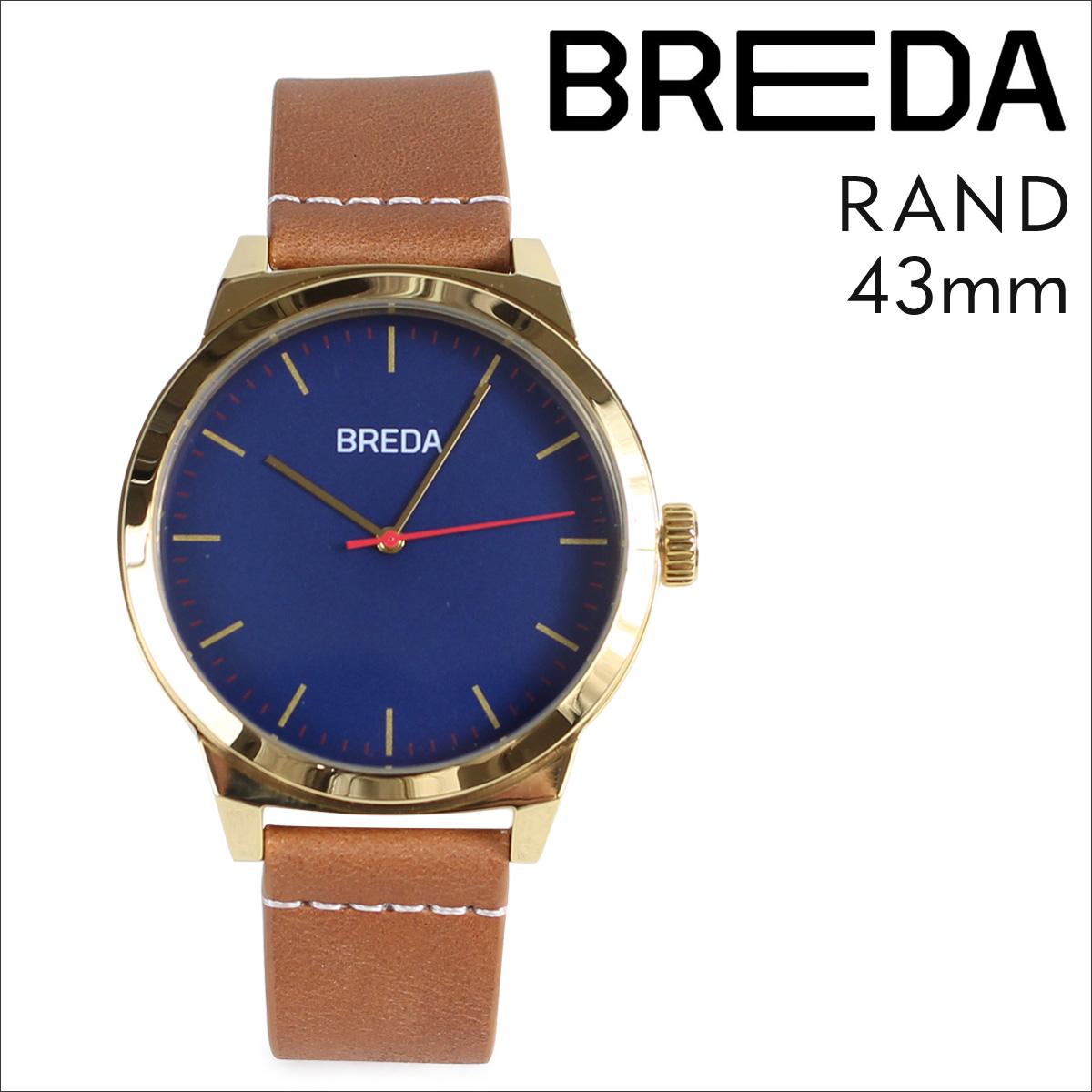 ブレダ BREDA 腕時計 43mm メンズ 時計 ランド RAND 8184C ゴールド ブラウン