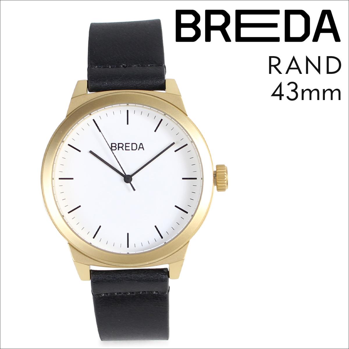 ブレダ BREDA 腕時計 43mm メンズ 時計 ランド RAND 8184K ゴールド ブラック 黒