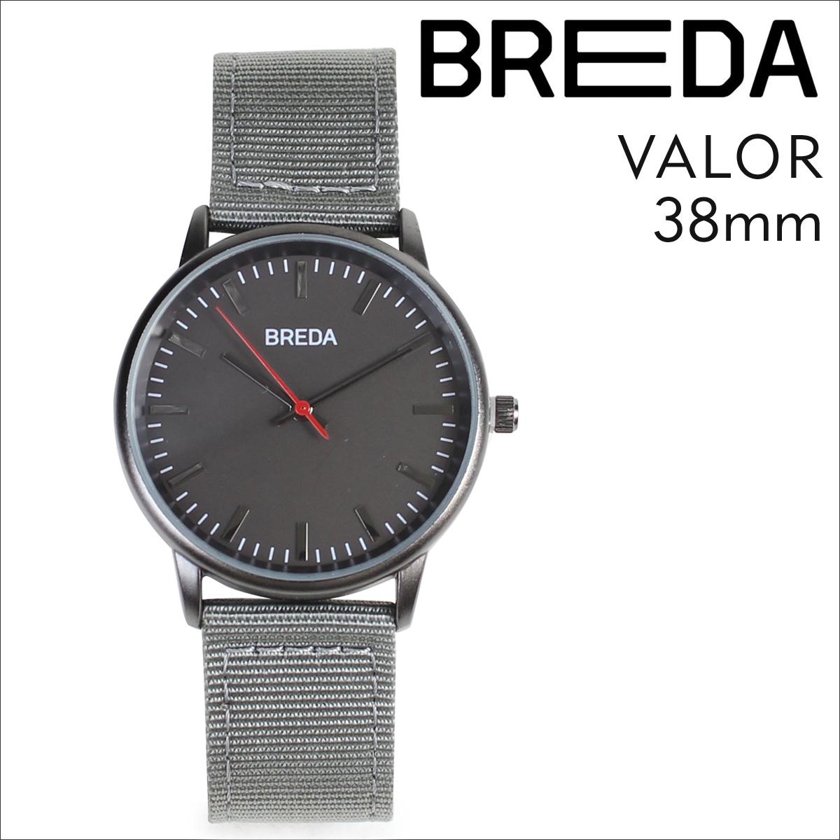 ブレダ BREDA 腕時計 38mm メンズ 時計 バロー VALOR 1707A ガンメタル グレー