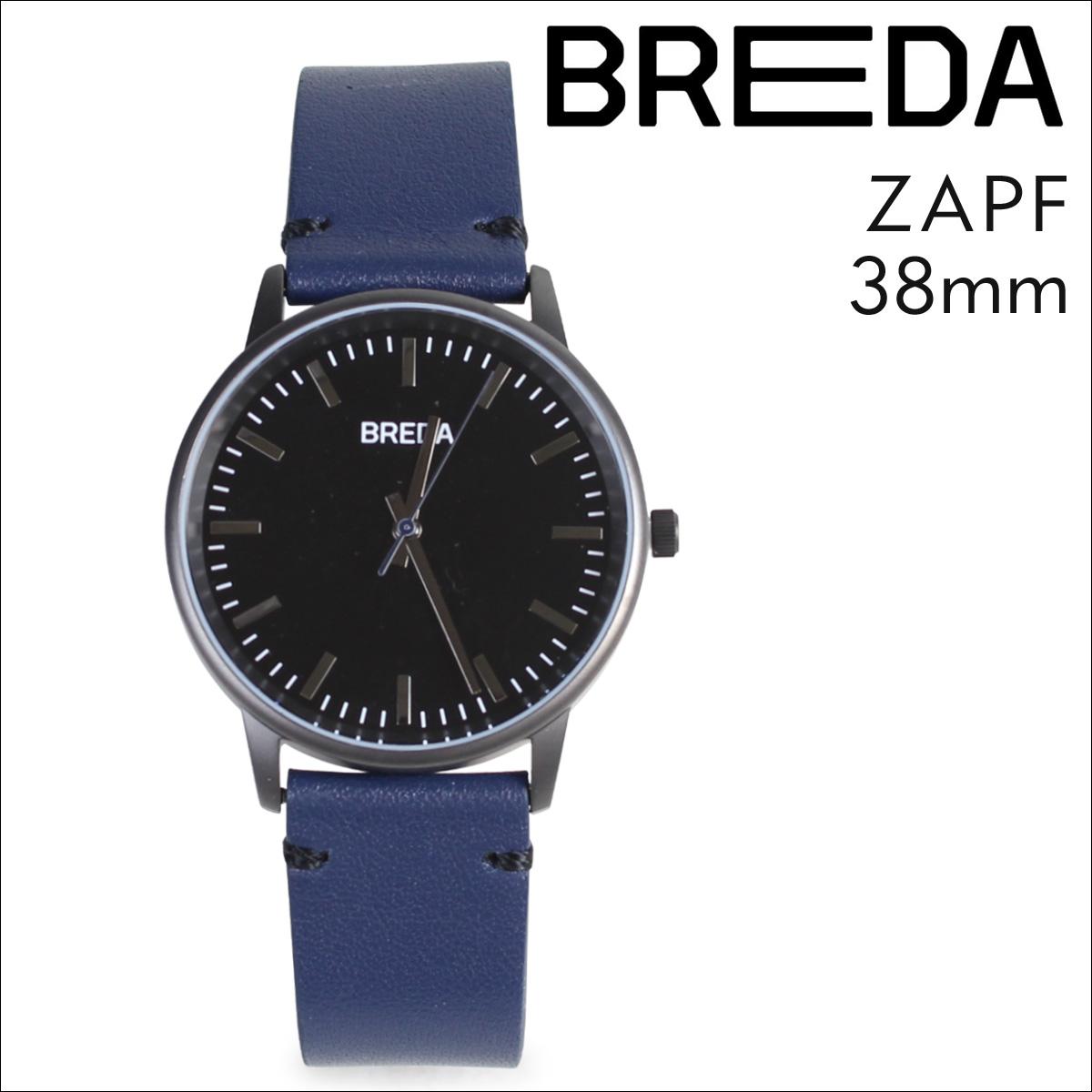 ブレダ BREDA 腕時計 38mm メンズ 時計 ツアップ ZAPF 1697G ガンメタル ネイビー