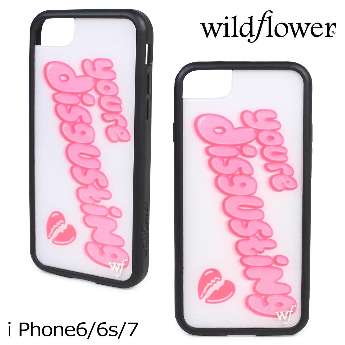 wildflower ワイルドフラワー iPhone8 SE 7 6 6s ケース スマホ 携帯 アイフォン レディース ホワイト 白 DISG ネコポス可