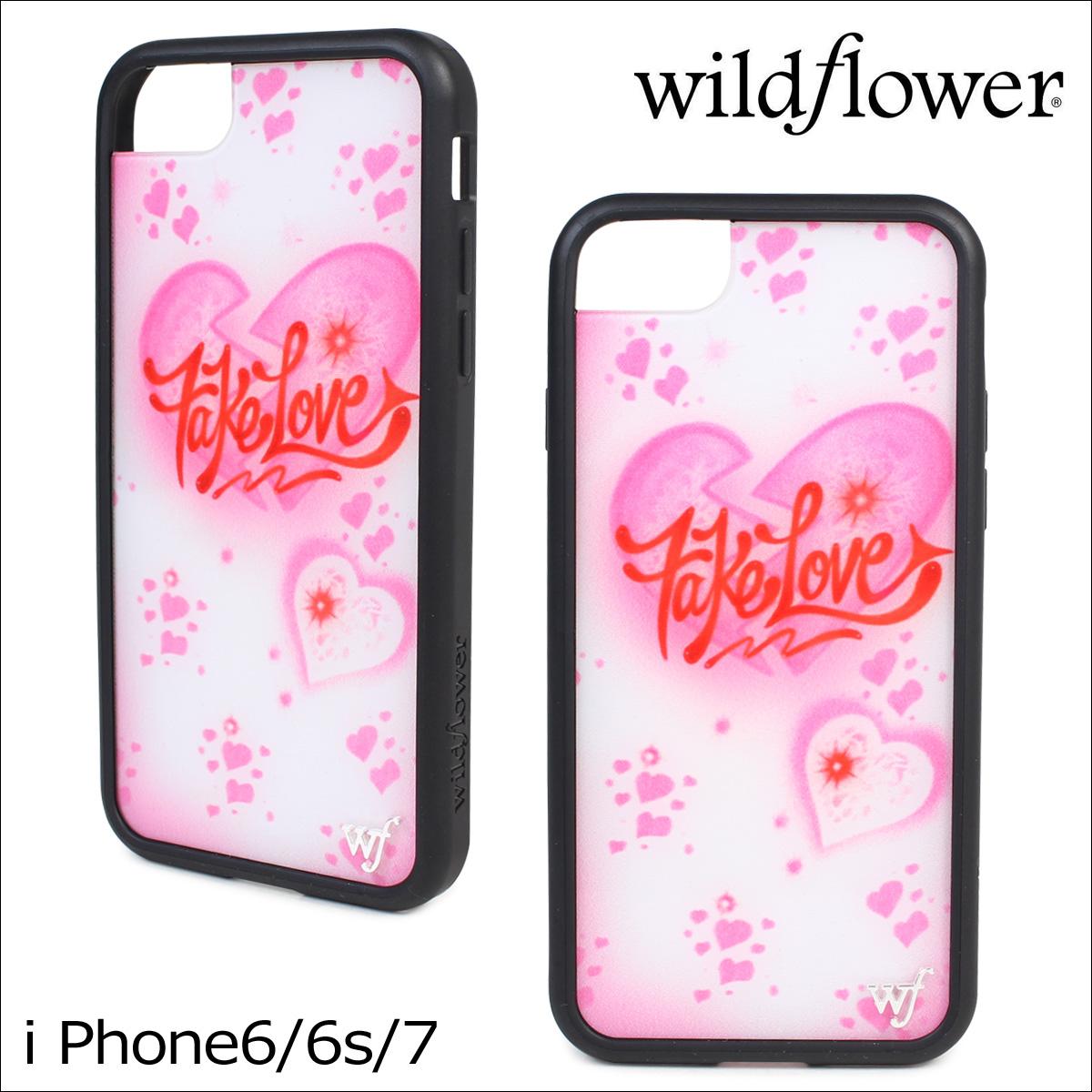 wildflower ワイルドフラワー iPhone8 SE 7 6 6s ケース スマホ 携帯 アイフォン レディース ホワイト 白 FAKE ネコポス可