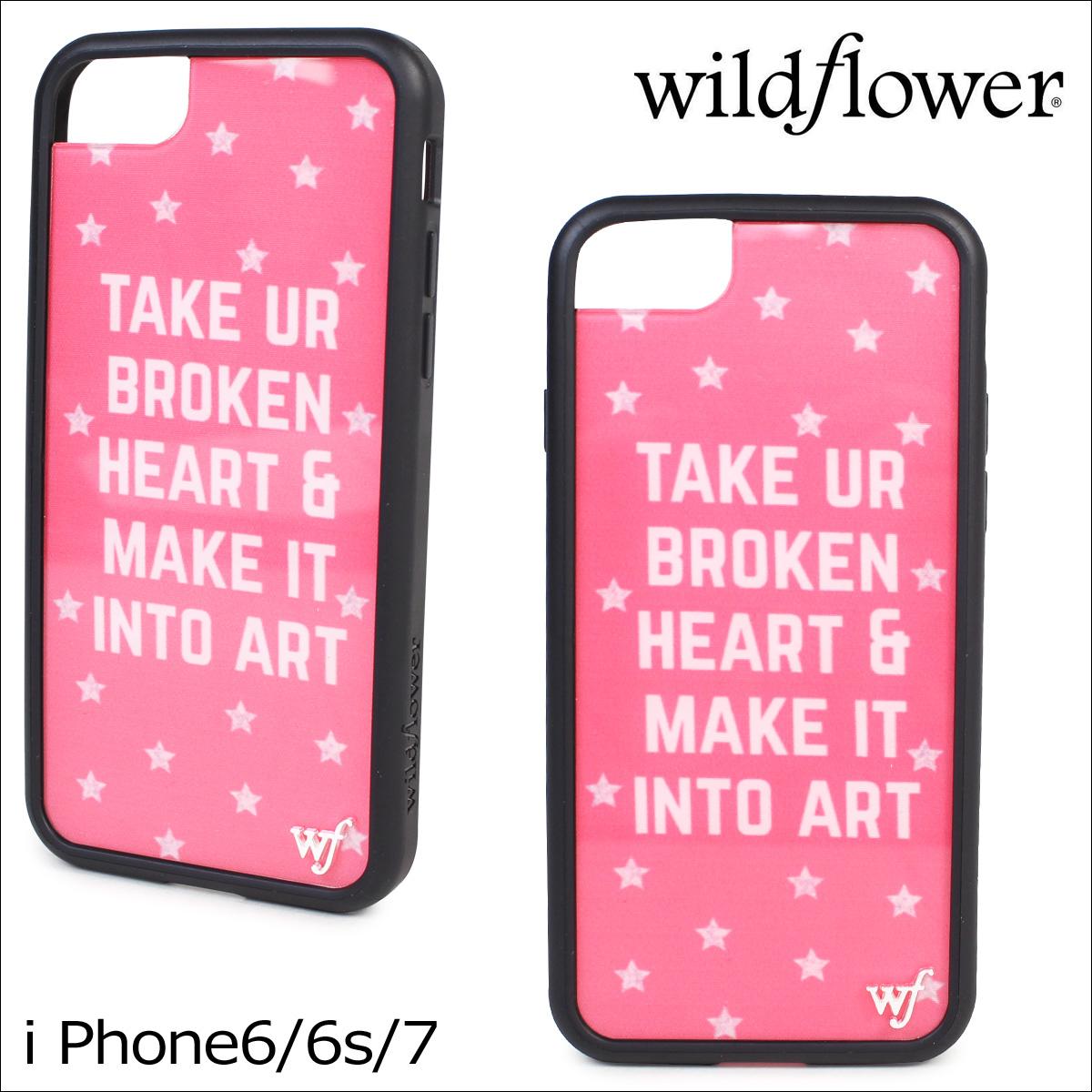 wildflower ワイルドフラワー iPhone8 SE 7 6 6s ケース スマホ 携帯 アイフォン レディース ピンク BROK ネコポス可