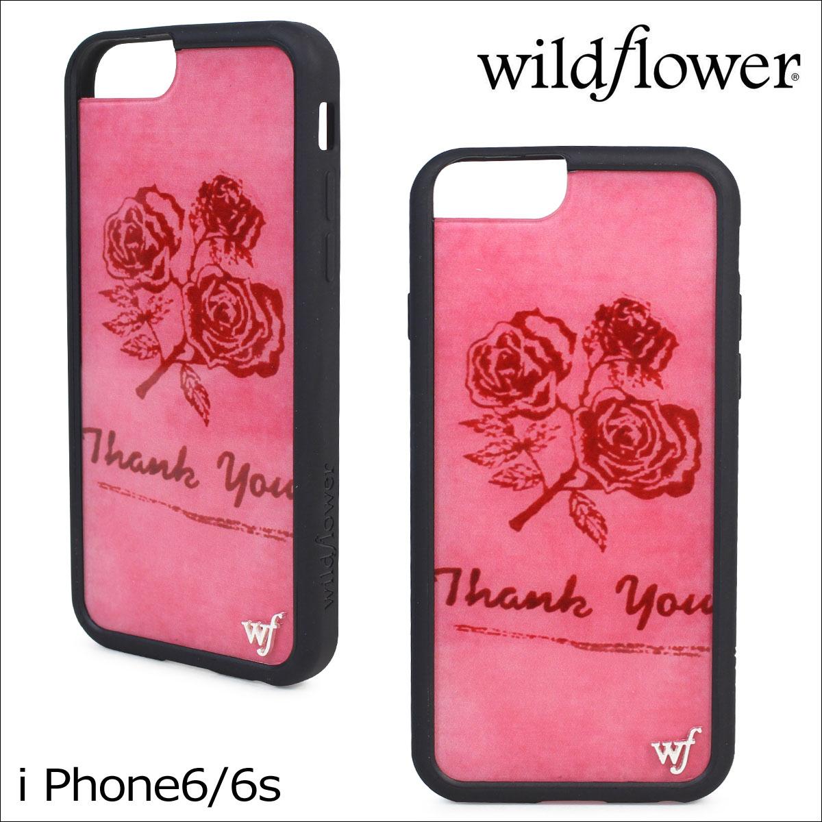 wildflower ワイルドフラワー iPhone8 SE 7 6 6s ケース スマホ 携帯 アイフォン レディース ピンク THAN ネコポス可
