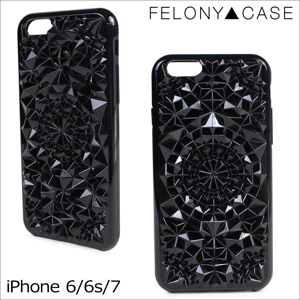 フェロニーケース Felony Case iPhone8 SE 7 6 6s ケース スマホ 携帯 アイフォン アイフォーン レディース ブラック