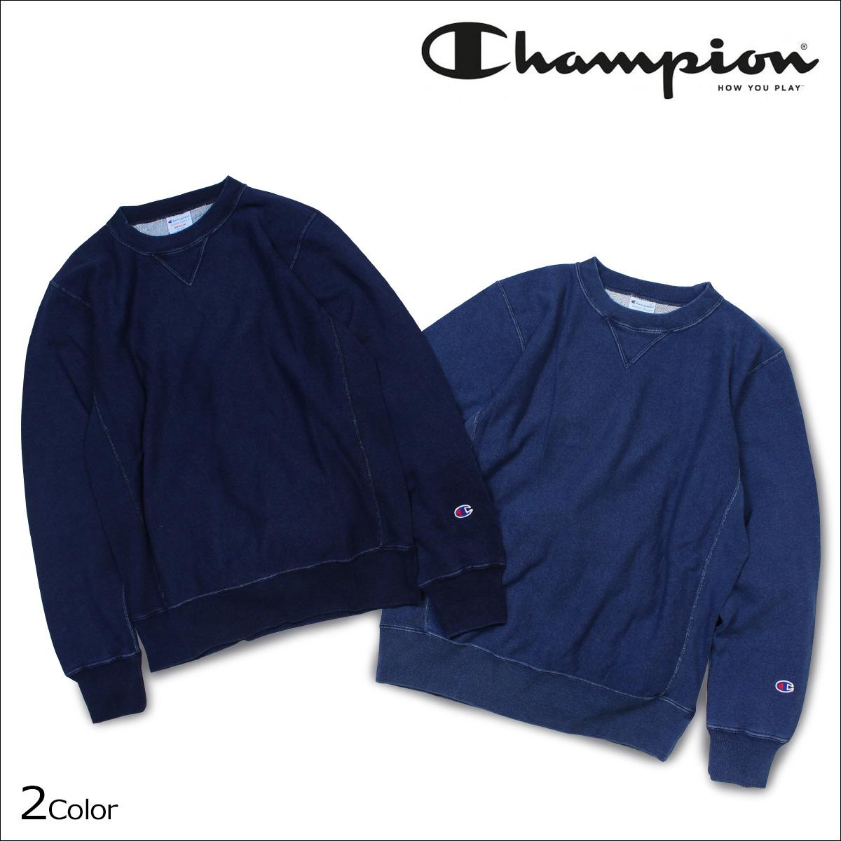 チャンピオン Champion トレーナー スウェット プルオーバー クルーネック メンズ REVERSE WEAVE CREW NECK SWEAT ブルー