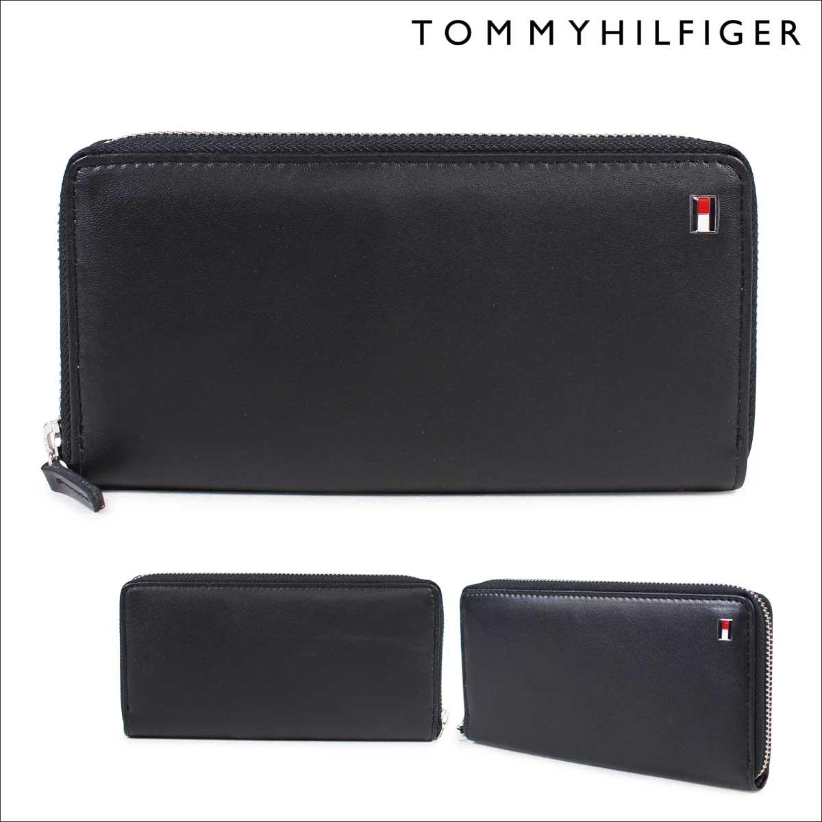 トミーヒルフィガー TOMMY HILFIGER 財布 長財布 メンズ ラウンドファスナー レザー OXFORD WALLET 4691 31TL13X009-001 ブラック