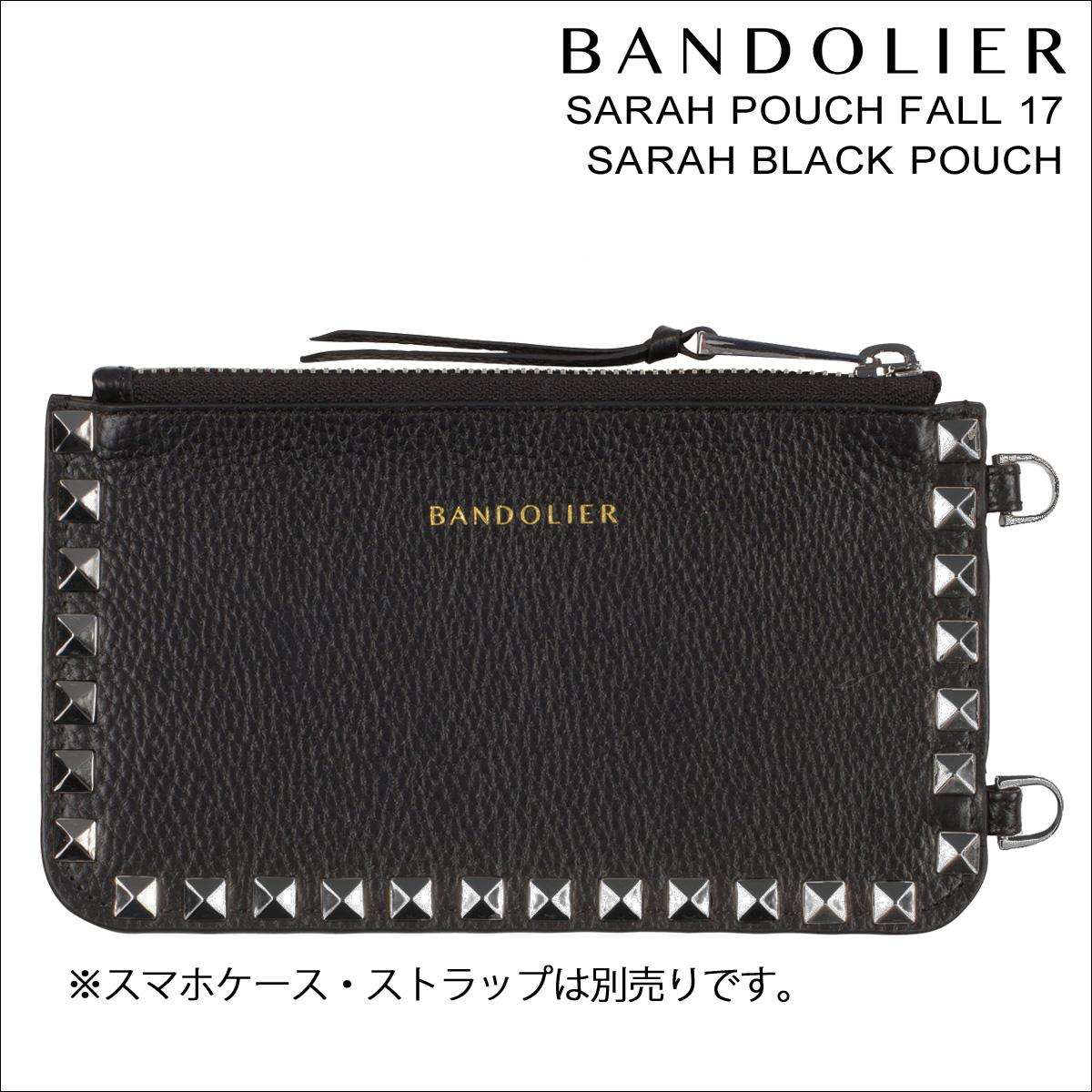 BANDOLIER バンドリヤー ポーチ ケース スマホ 携帯 レザー SARAH POUCH FALL17 メンズ レディース ブラック