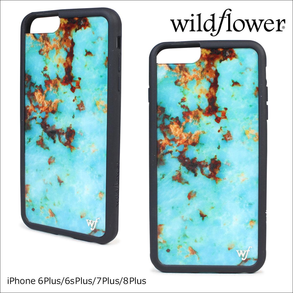 wildflower ワイルドフラワー iPhone8 SE 7 6 6s ケース スマホ 携帯 アイフォン レディース ターコイズ TURQ ネコポス可