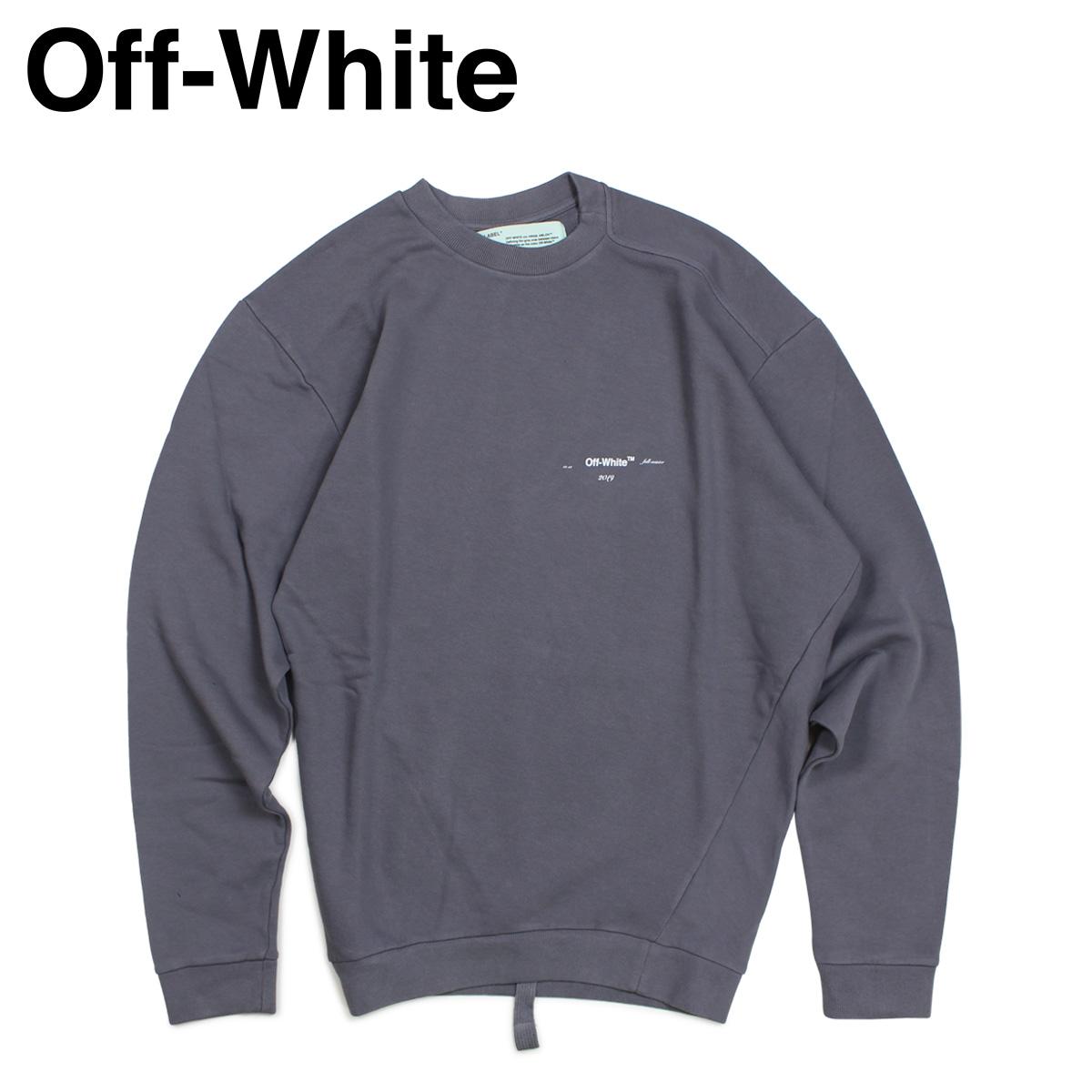 Off-white オフホワイト トレーナー スウェット メンズ COTTON SWEAT SHIRTS グレー OMBA031 192004