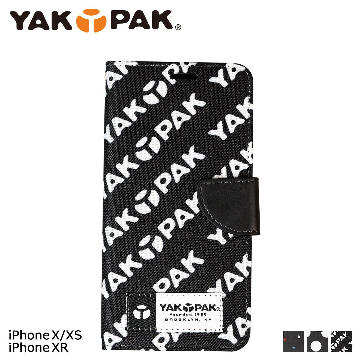ヤックパック YAKPAK iPhone XR XS X ケース スマホ 携帯 手帳 アイフォン スマートフォン メンズ レディース ネコポス可