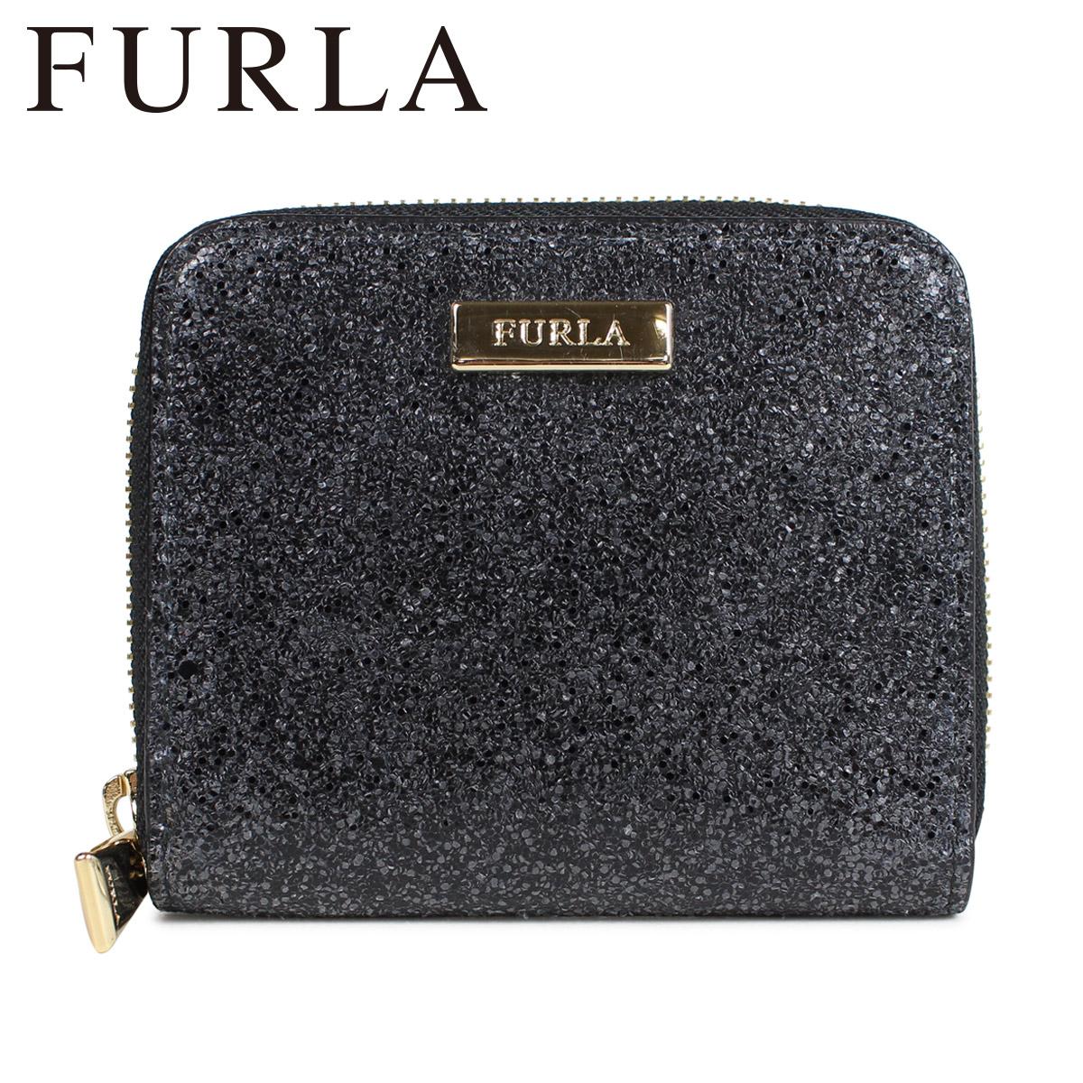 フルラ FURLA 財布 二つ折り レディース ラウンドファスナー LEATHER MEDIUM ZIP WALLET ブラック 840302