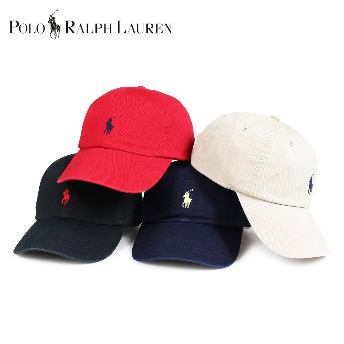 ポロ ラルフローレン POLO RALPH LAUREN キャップ 帽子 メンズ レディース コットン COTTON CHINO BASEBALL CAP ブラック ベージュ レッ