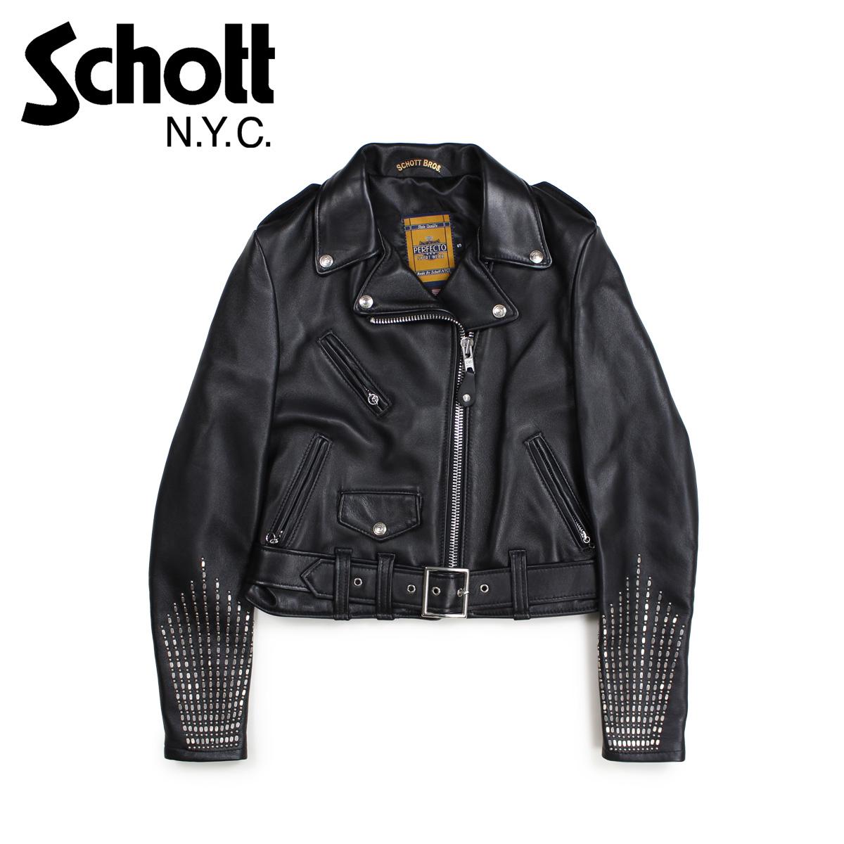 ショット Schott ジャケット ライダースジャケット レディース WOMEN RIDERS JACKET ブラック