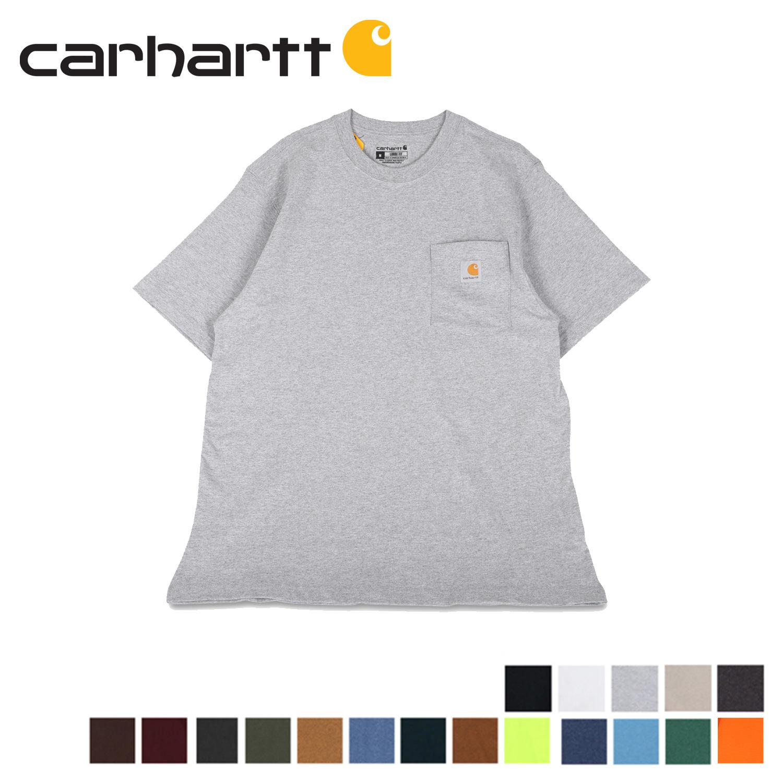 カーハート carhartt Tシャツ 半袖 メンズ ポケット ポケT WORKER POCKET S/S T-SHIRTS ブラック ホワイト