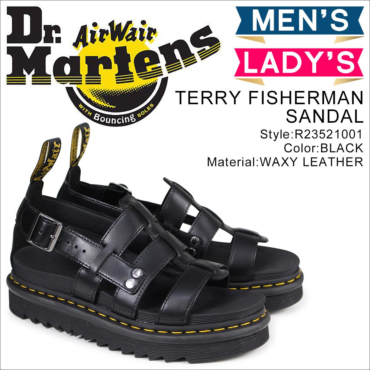 ドクターマーチン Dr. Martens サンダル テリー フィッシャーマン メンズ レディース TERRY FISHERMAN SANDAL ブラック 黒 R23521001