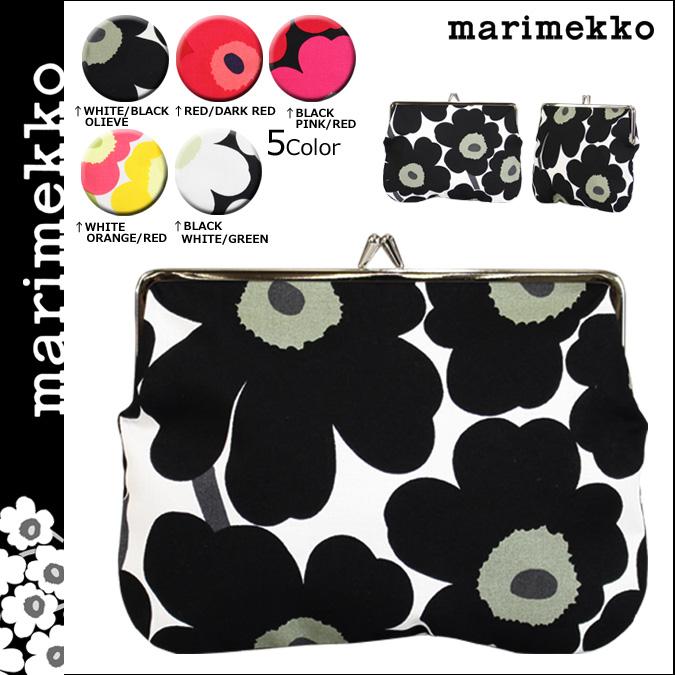 マリメッコ marimekko 財布 コインケース 小銭入れ がま口 花柄 037773 5カラー PUOLIKAS KUKKARO MINI UNIKKO レディース ネコポス可
