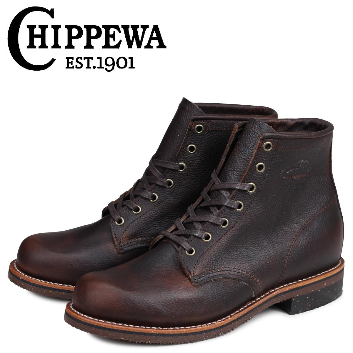 チペワ CHIPPEWA ブーツ 6インチ サービス 6INCH SERVICE BOOT 1901G25 Dワイズ ダークブラウン メンズ