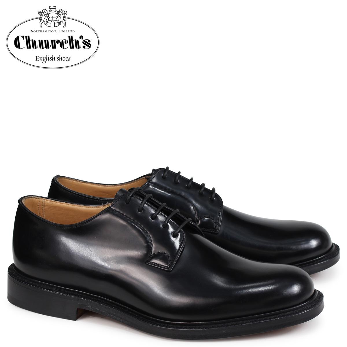 チャーチ Churchs 靴 シャノン プレーントゥ シューズ メンズ SHANNON POLISHED BINDER EEB001 ブラック