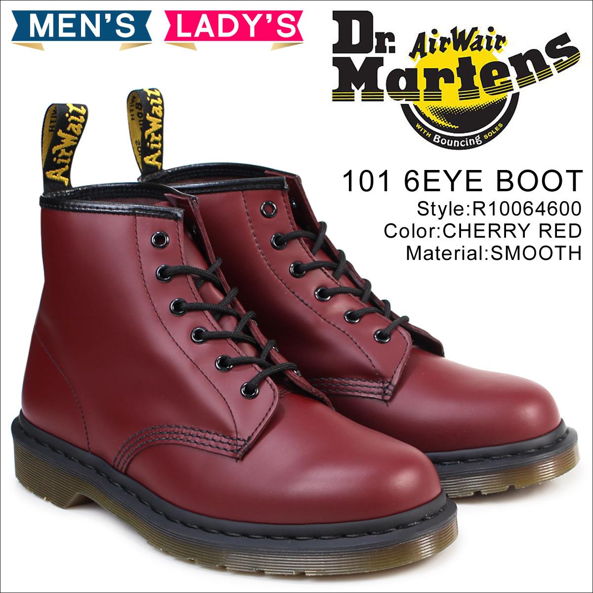 ドクターマーチン Dr. Martens 6ホール メンズ レディース 101 ブーツ 6EYE BOOT R10064600 チェリーレッド