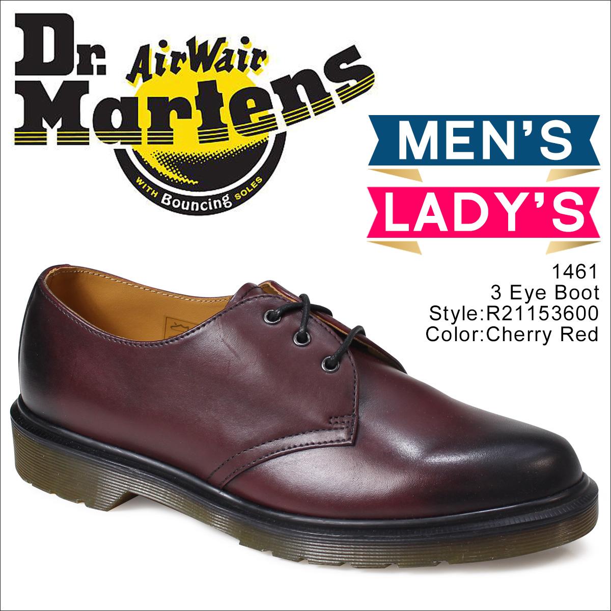 ドクターマーチン Dr. Martens 3ホール 1461 メンズ レディース 3アイレット シューズ 3EYELET SHOE R21153600 レッド