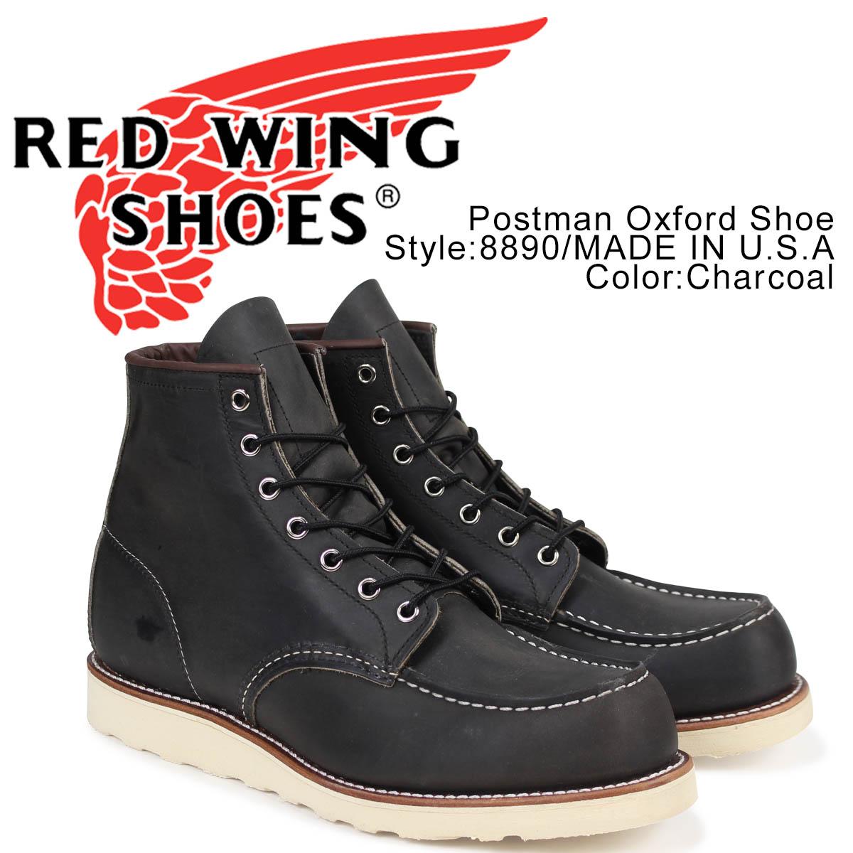 レッドウィング RED WING ブーツ アイリッシュセッター 6インチ クラシック モック メンズ 6INCH CLASSIC MOC Dワイズ チャコール 8890