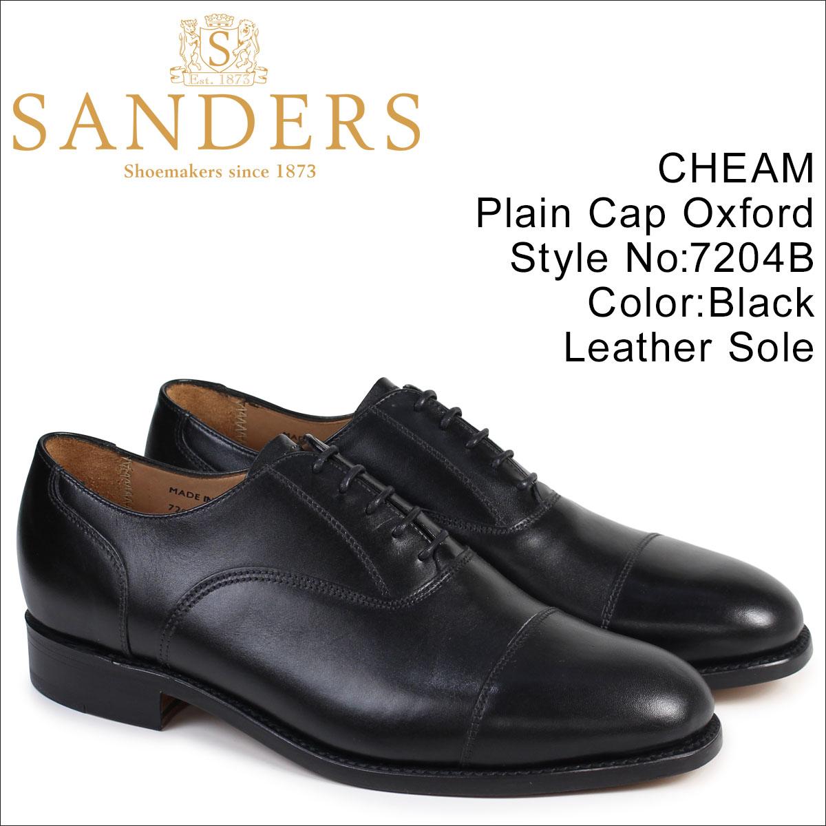 サンダース SANDERS ミリタリー オックスフォード シューズ ビジネス CHEAM 7204B メンズ ブラック