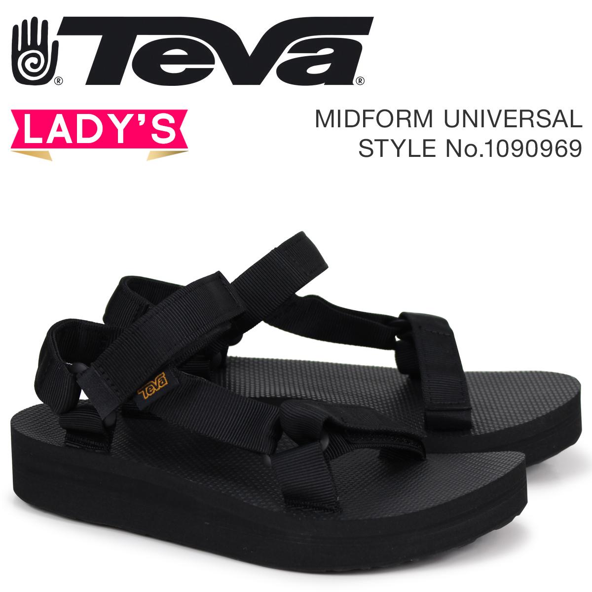 Teva テバ サンダル レディース ミッドフォーム ユニバーサル MIDFORM UNIVERSAL ブラック 1090969