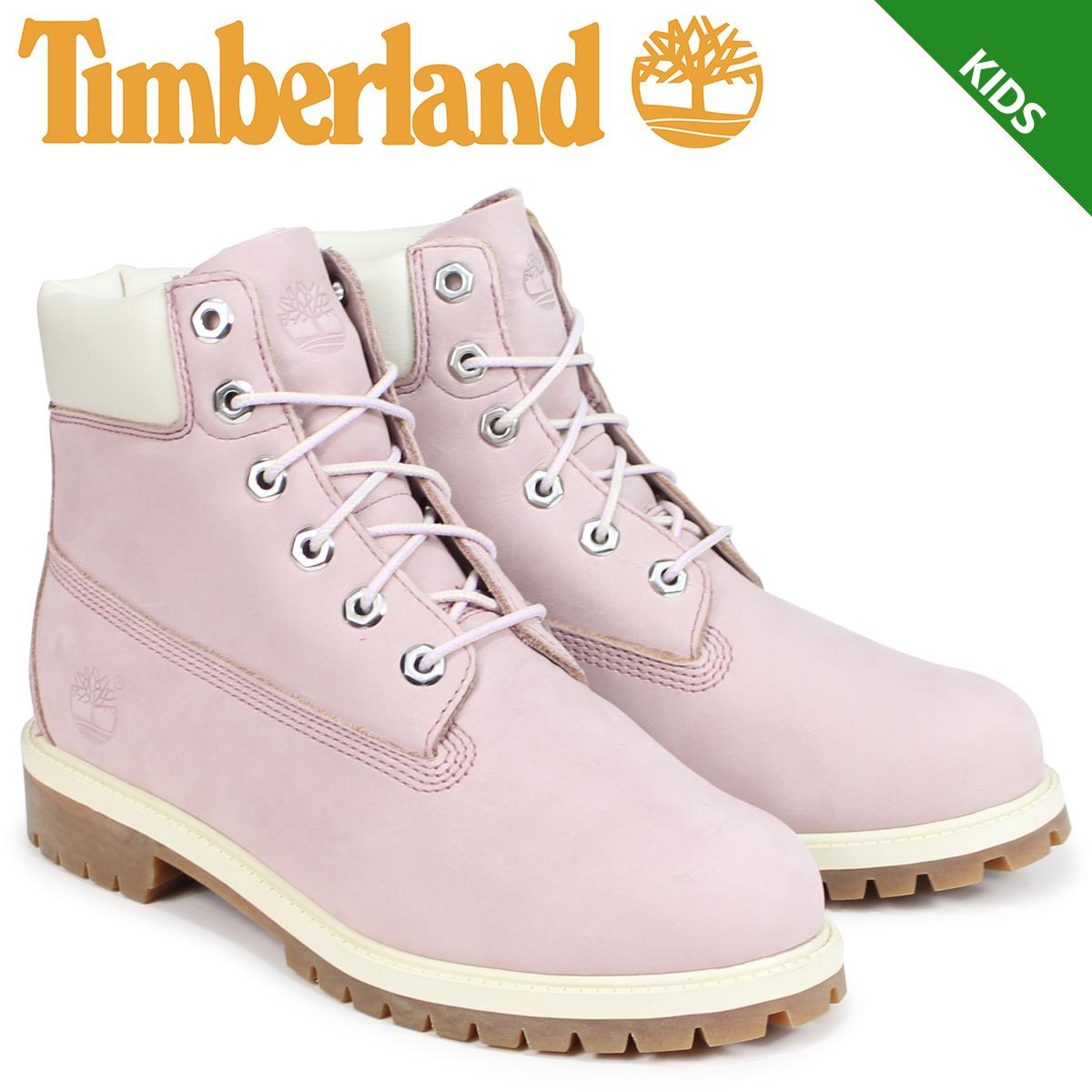 ティンバーランド Timberland ブーツ レディース 6インチ キッズ JUNIOR 6-INCH PREMIUM WATERPROOF BOOTS 34992 Wワイズ ピンク